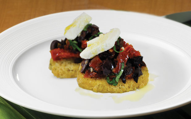 Sun-dried Tomatoes & Kalamata Bruschetta