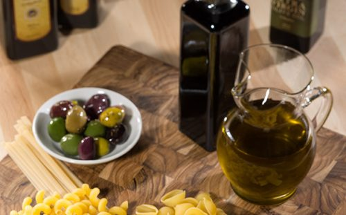 Olives, EVOO and Pasta