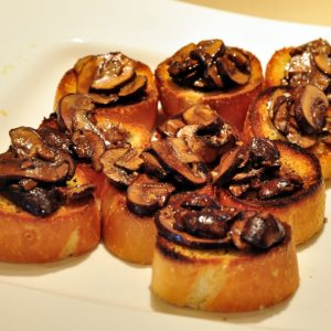 Crostini with Balsamic Portabella Mushrooms