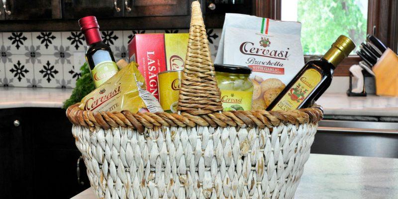 Cervasi Italian foods gift basket idea